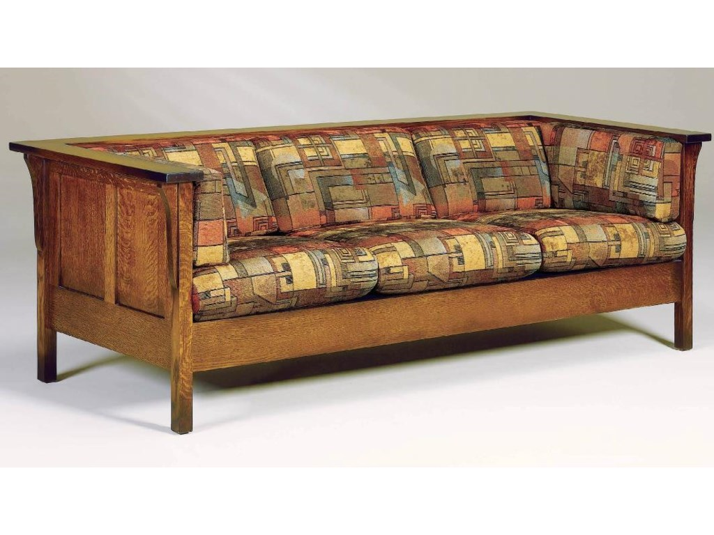 AJ's Furniture Amish UpholsteryCubic Panel Sofa