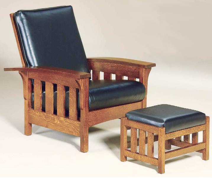 AJu0027s Furniture Amish UpholsteryChair U0026 Ottoman Set