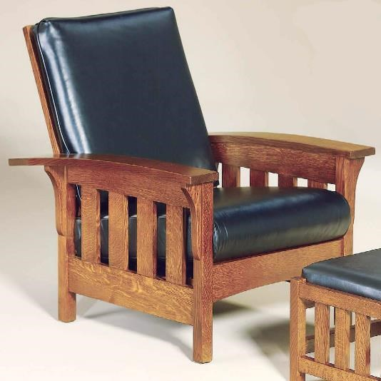 AJu0027s Furniture Amish UpholsteryBow Arm Chair ...