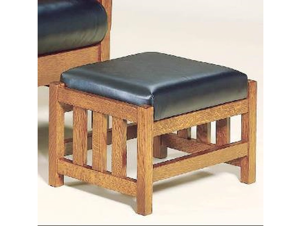 Aj S Furniture Amish Upholstery 460 Basmf Mission Style Ottoman With