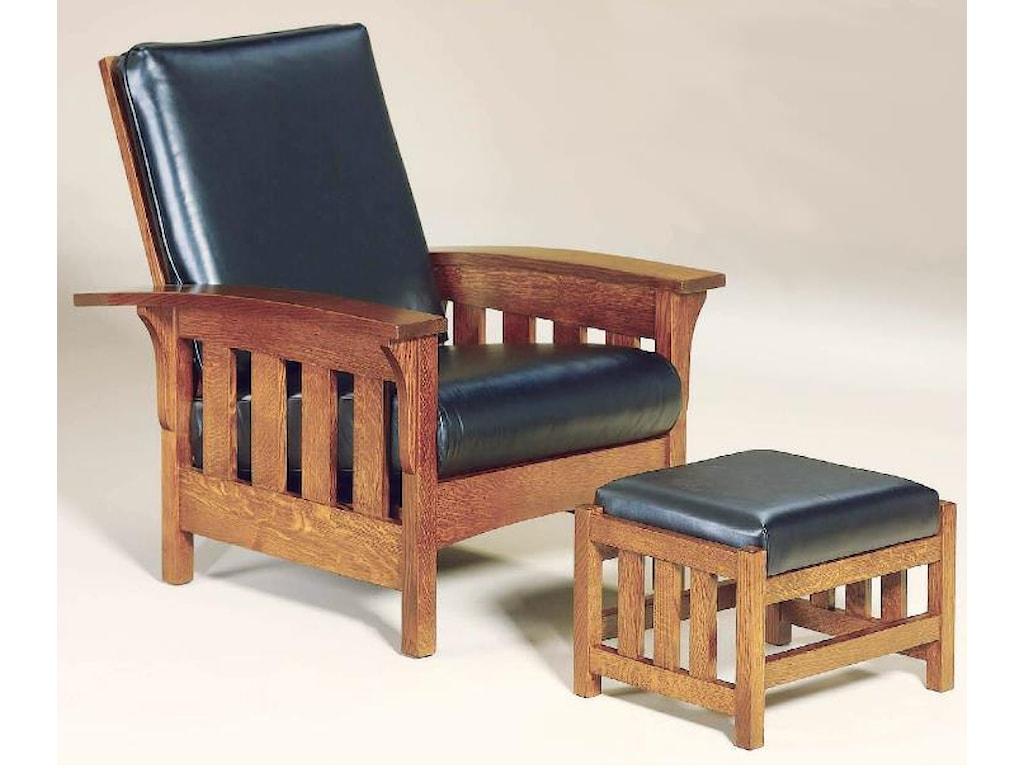 AJ's Furniture Amish UpholsteryBow Leg Ottoman