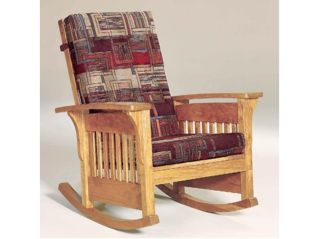 AJ's Furniture Amish UpholsteryBow Arm Rocking Chair
