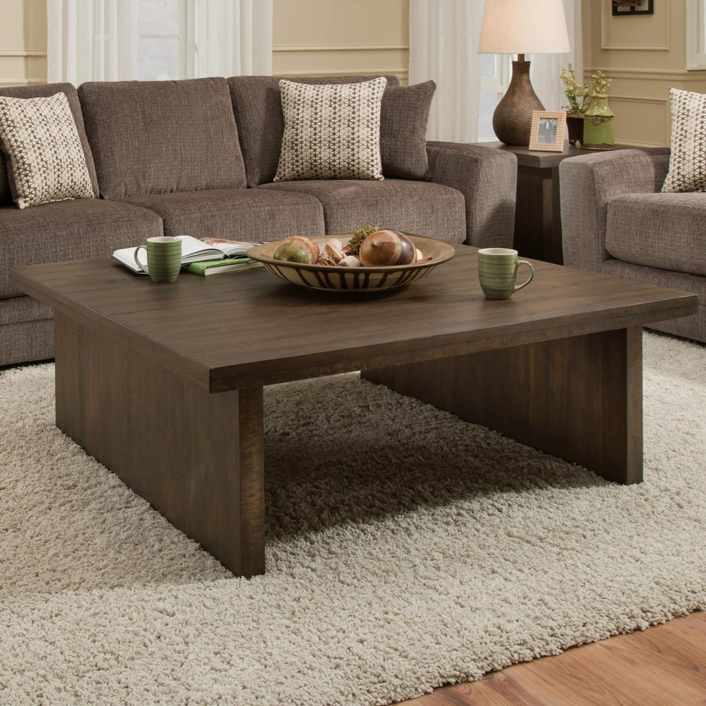 Contemporary Square Coffee Tables albany 129 distressed walnut contemporary square coffee table