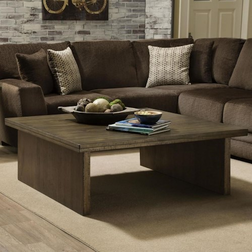 Albany 129 Contemporary Square Coffee Table