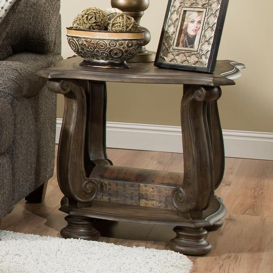 Albany 140 Antique OakEnd Table ...