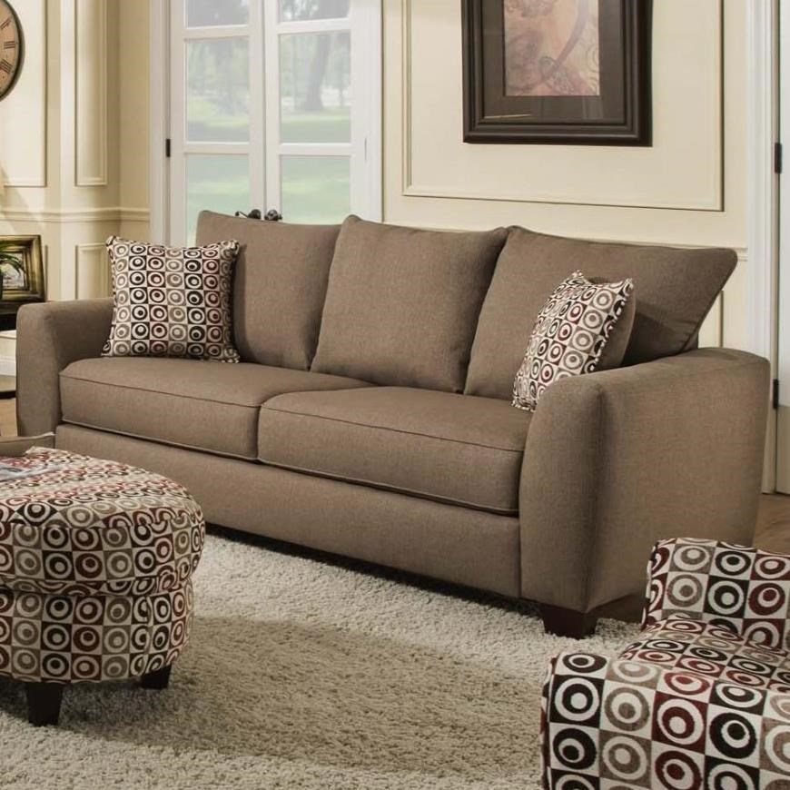 Albany 0416 Sofa With 3 Loose Back Cushions Value City Furniture