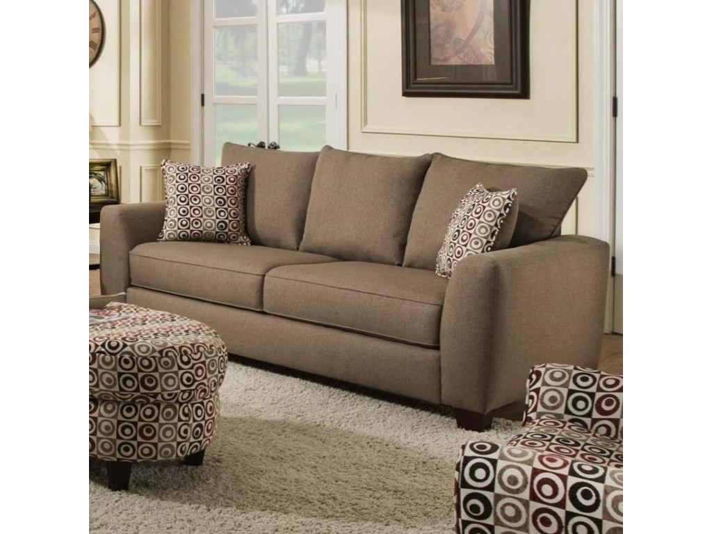 0416 Sofa With 3 Loose Back Cushions By Albany