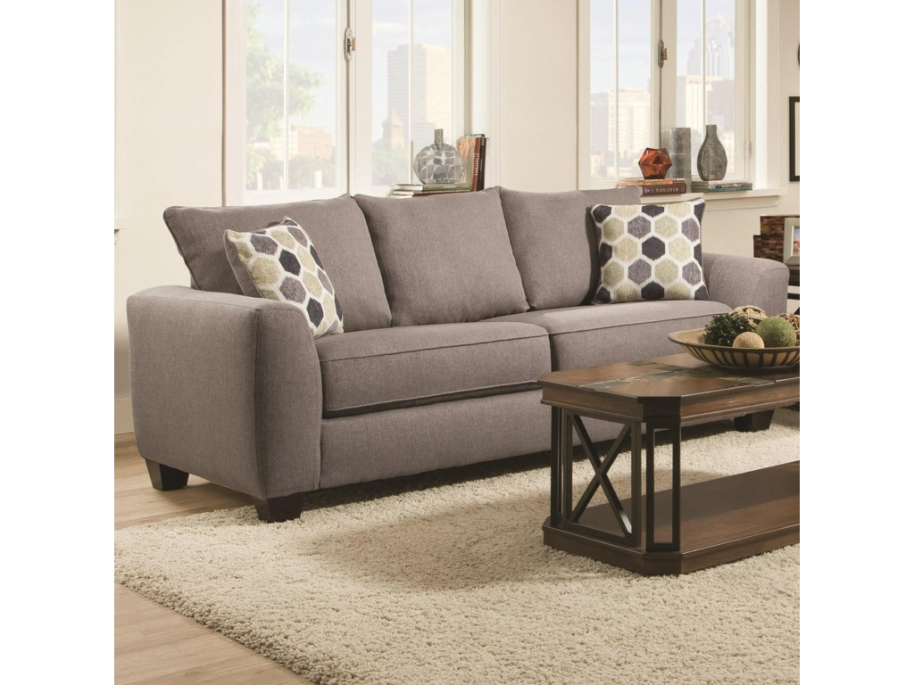 0416 Queen Sofa Sleeper With Track Arms By Albany