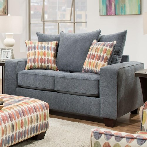 Albany 451 Loveseat with Flat Track Arms