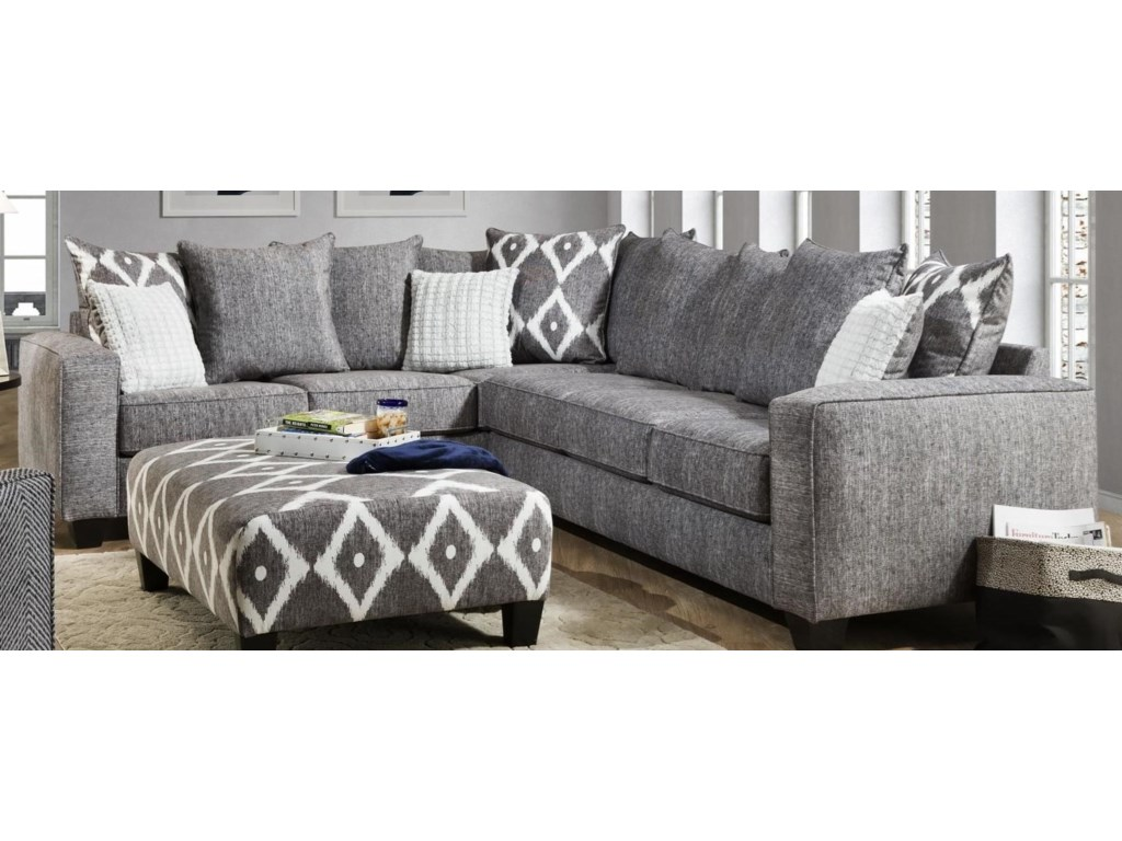 Albany Stonewash2 Piece Sectional