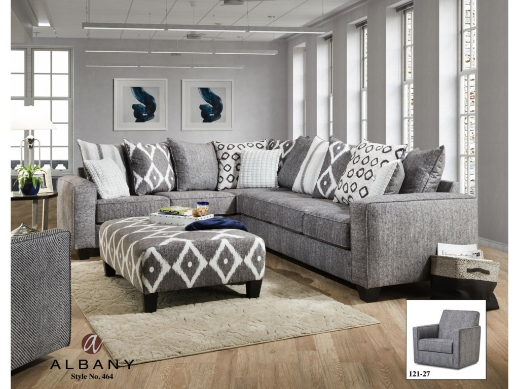 Albany 464Two Piece Sectional