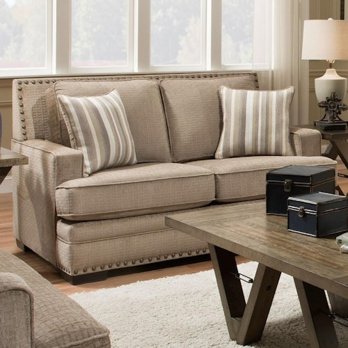 Albany 488 Loveseat with Nail Head Trim