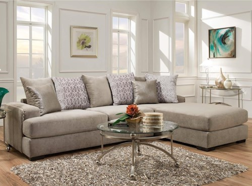 Albany 883 2 Piece Sectional Sofa with RAF Chaise