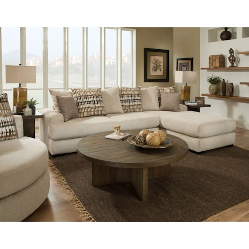 Albany 883 2 piece sectional sofa with raf chaise value for Albany saturn sectional sofa chaise