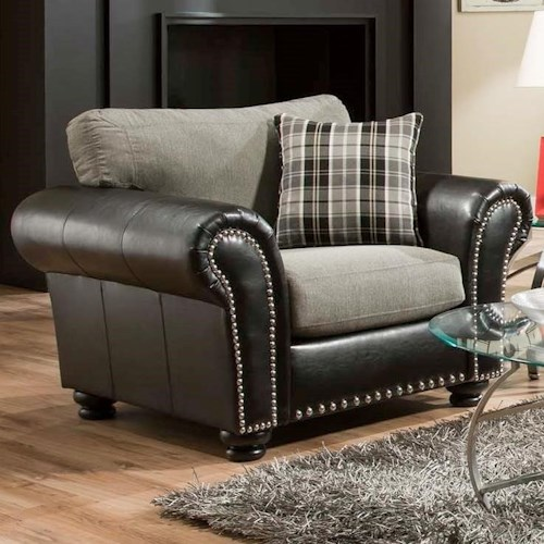 albany 932 chair with fabric leather combination a1 furniture