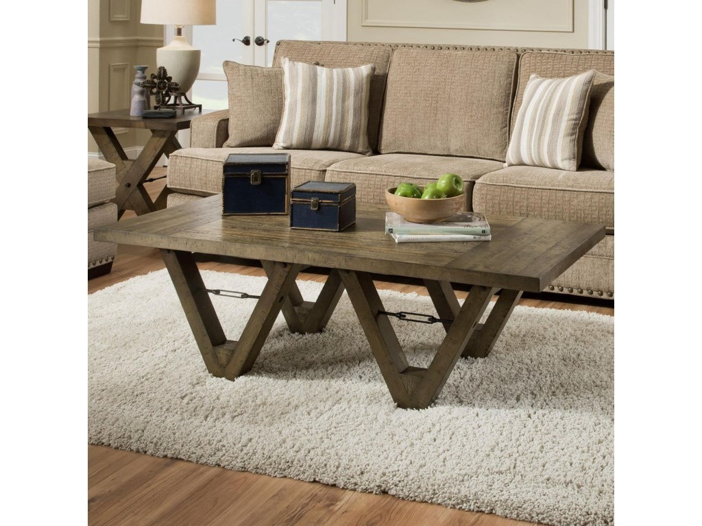 Albany 128 Distressed OakCoffee Table