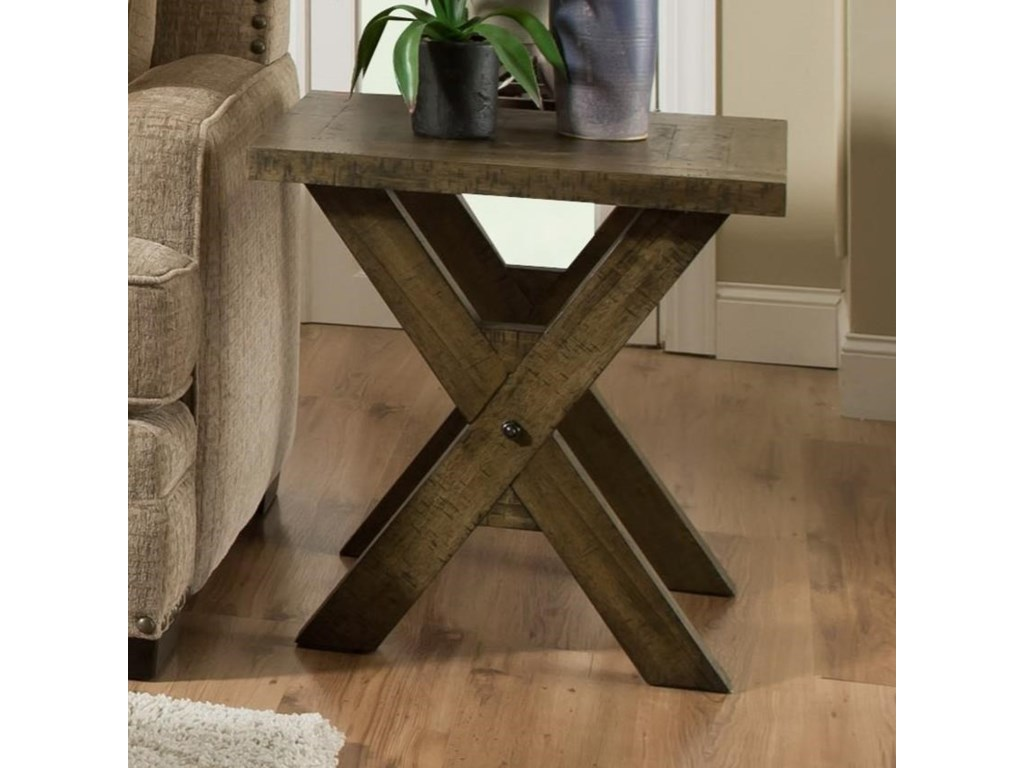 Albany Distressed OakEnd Table