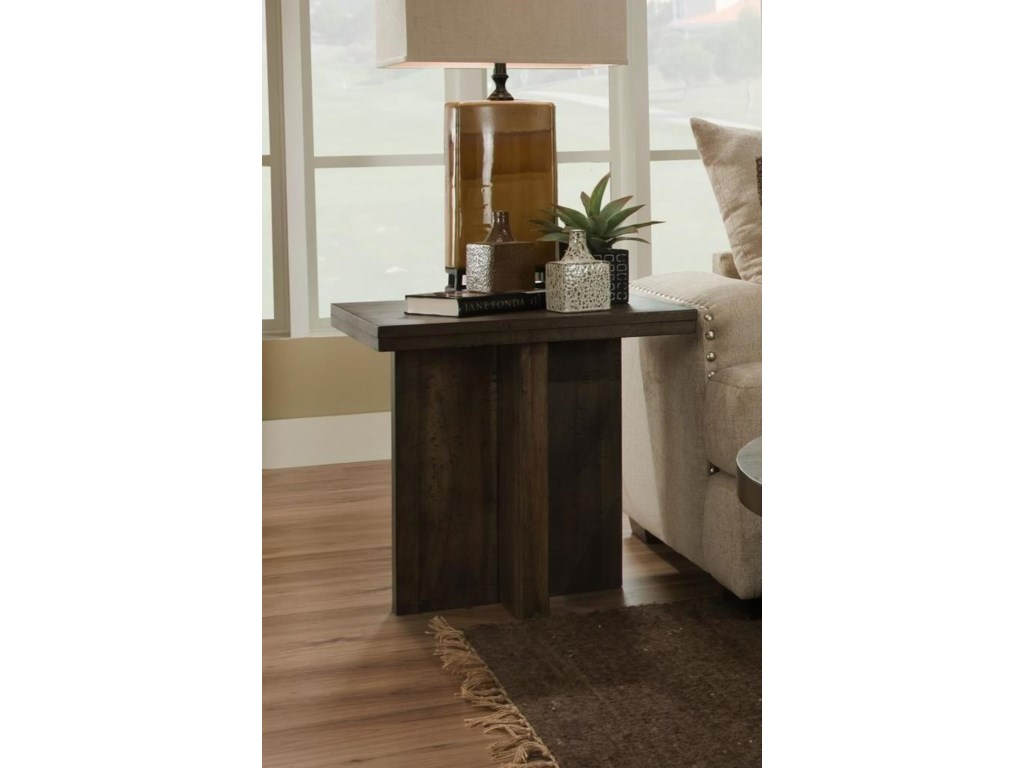 Albany Distressed WalnutSquare End Table