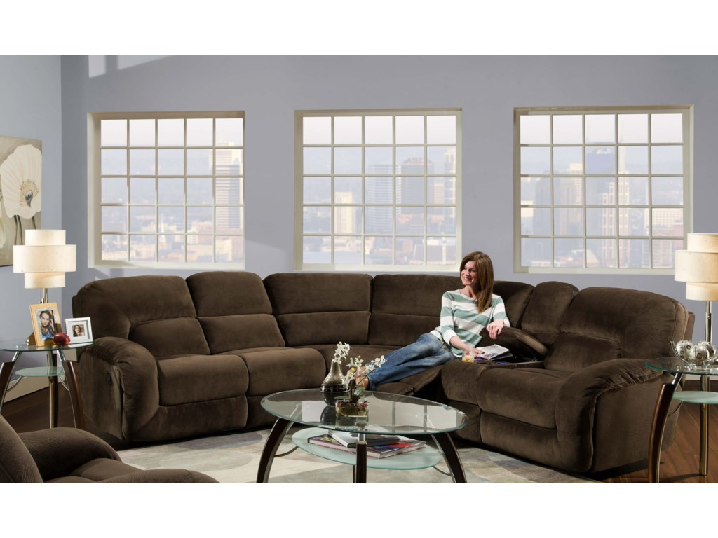 Albany 17353 Piece Reclining Sectional Sofa