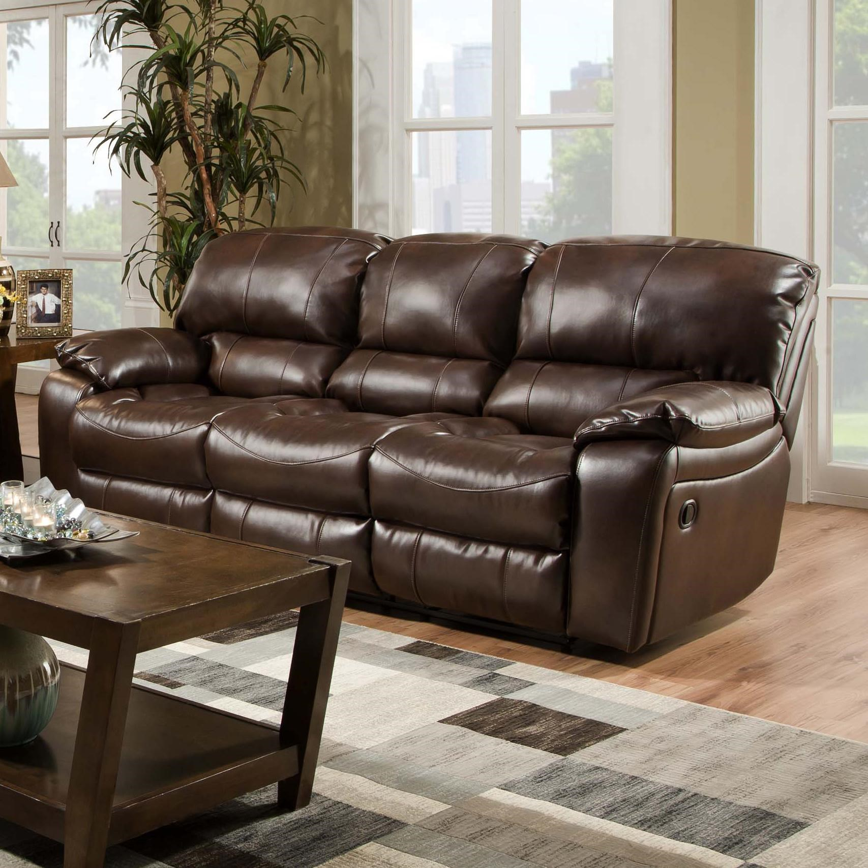 Albany 1750 Casual Reclining Sofa With Pillow Arms