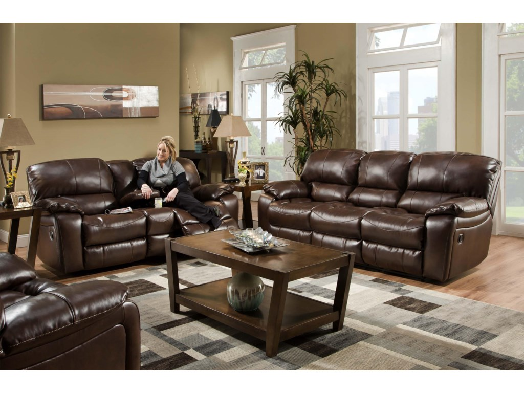 Albany 1750Casual Glider Reclining Loveseat