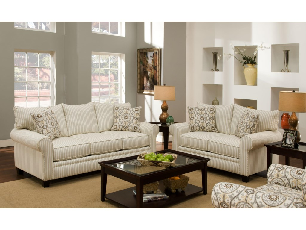 Albany 216Transitional Stationary Sofa
