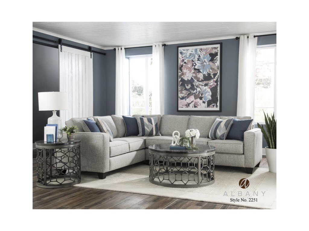 Albany 22512 PC Sectional Sofa