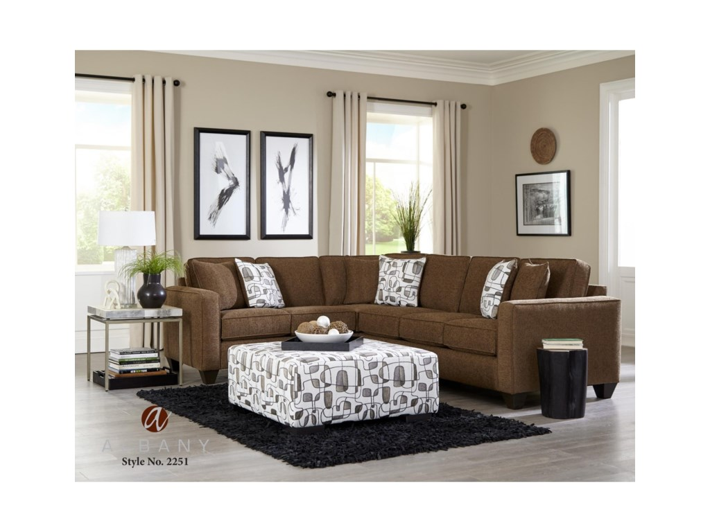 Albany 22512 PC Sectional Sofa Sleeper