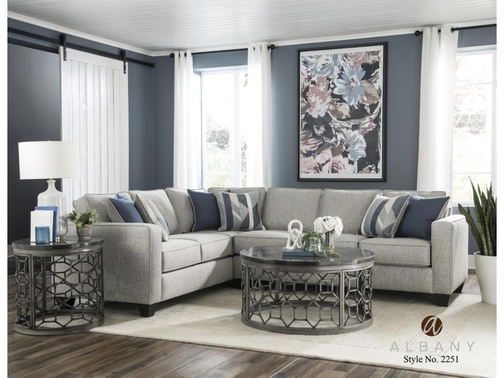 Albany 2251Two Piece Sleeper Sectional