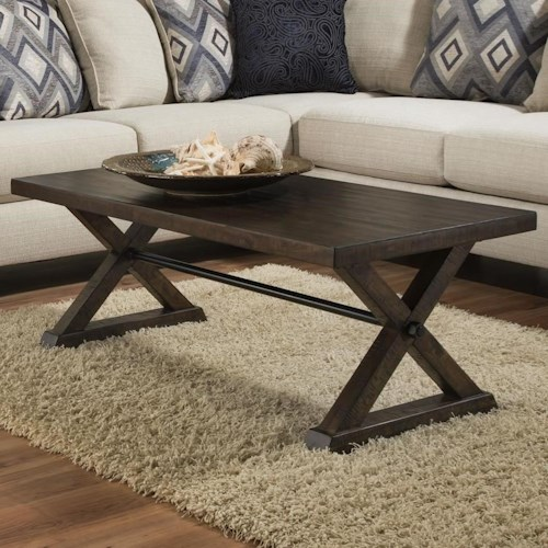 Albany 234 Coffee Table in Distressed Walnut Finish