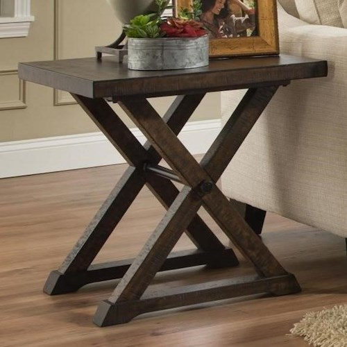 Albany 234 End Table in Distressed Walnut Finish