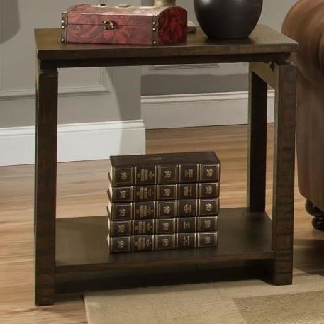 Albany 237 End Table With Floating Top Design   Miskelly Furniture   End  Tables