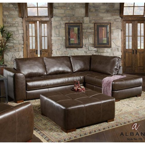 Albany 275 Contemporary Sectional Sofa With Chaise J J Furniture Sectional Sofas Mobile