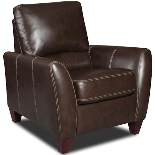 Albany 275 Contemporary High Leg Recliner with Tapered Arms