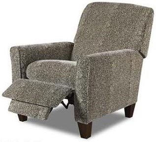 Albany 390  Transitional Recliner with Exposed Wood Feet