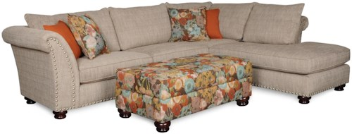 Albany 390  Transitional Two Piece Sectional with Chaise