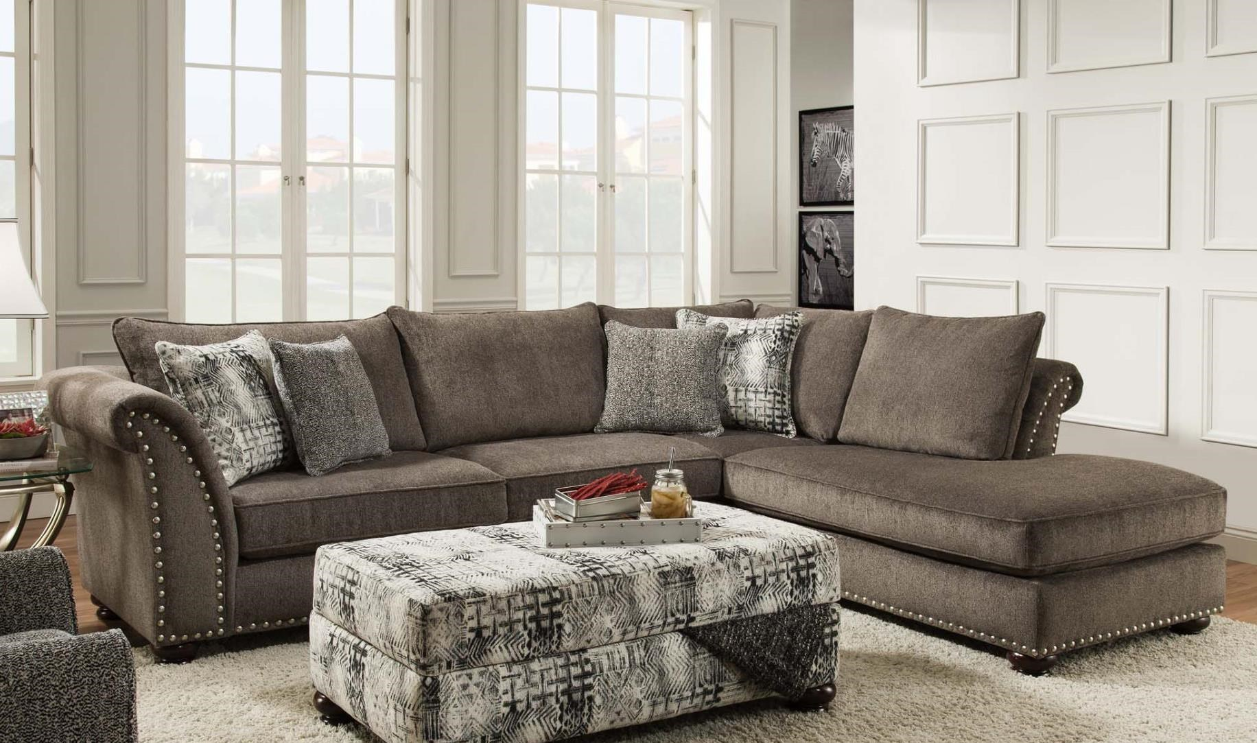 Albany 390 Transitional Two Piece Sectional with Chaise  sc 1 st  A1 Furniture : sectional with two chaises - Sectionals, Sofas & Couches