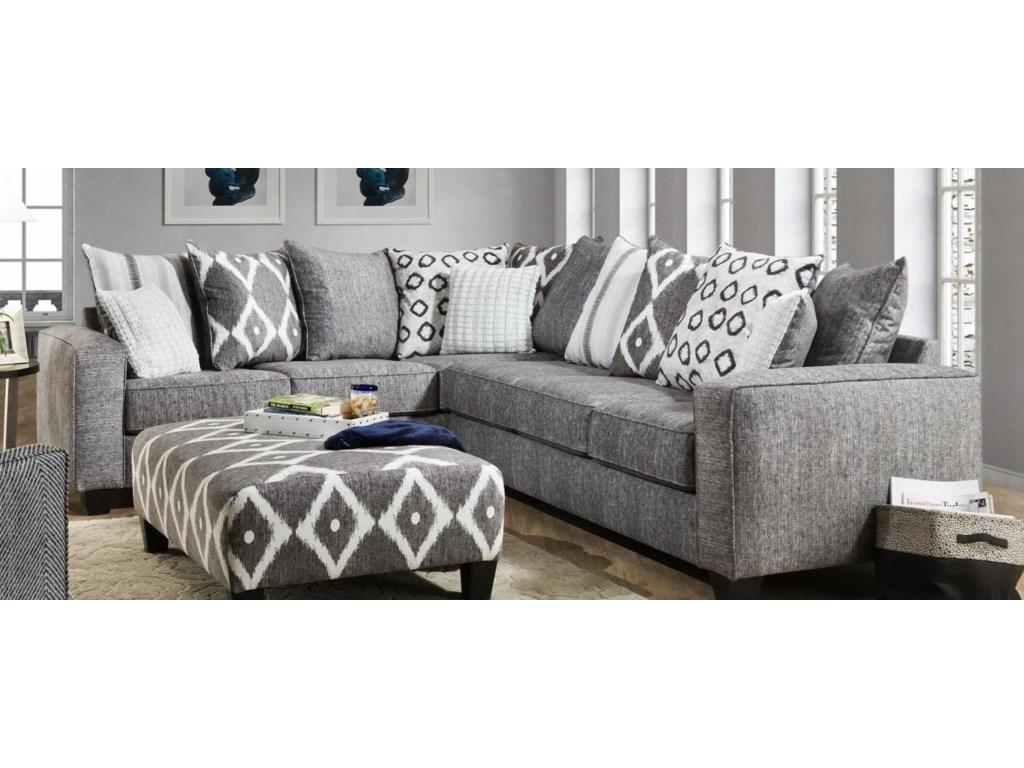 Albany 464Sectional Sofa with Accent Ottoman