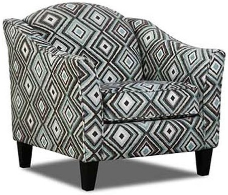 Albany 734 Transitional Accent Chair with Flared Arms