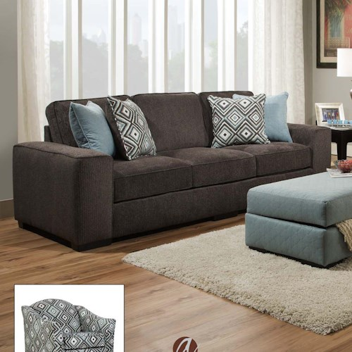 Albany 734 Contempoary Sofa with Wide Track Arms
