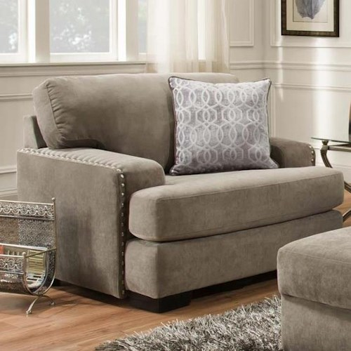 Albany 737  Casual Chair with Nailhead Trim