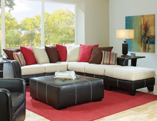 Albany 758 3 Piece Modular Sectional Sofa Group