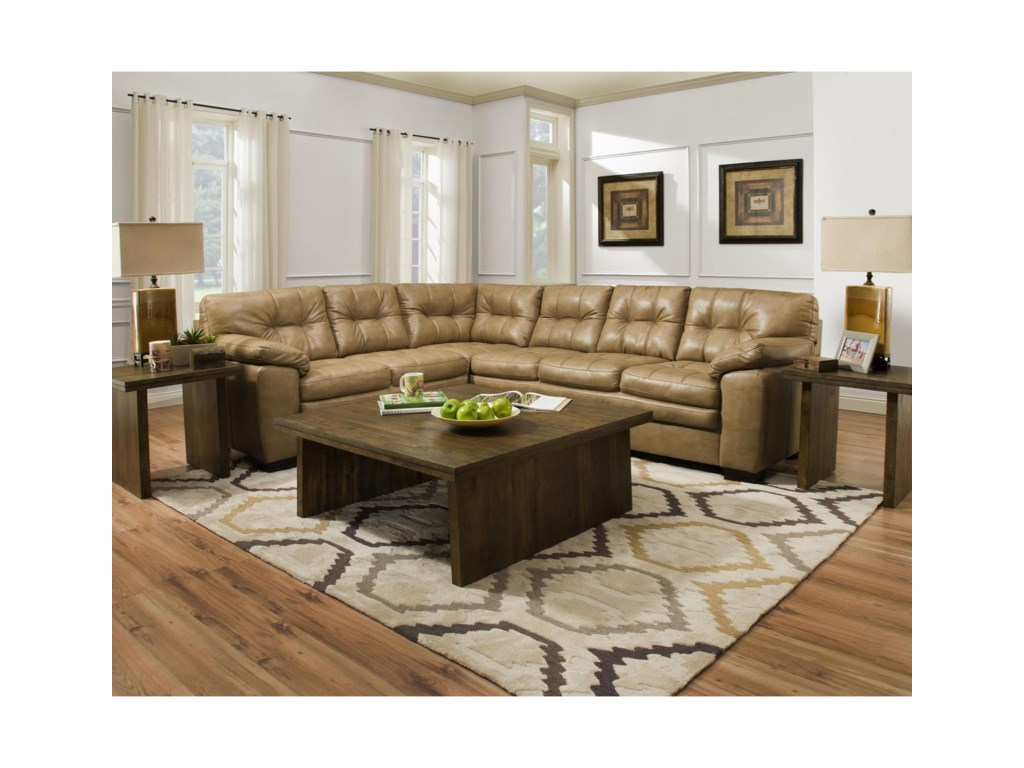 Albany 7812 PC Sectional Sofa