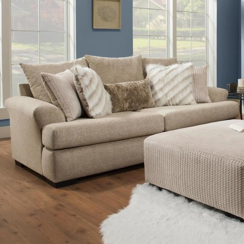 Albany 8340 Casual Sofa with Large Flare Tapered Arms