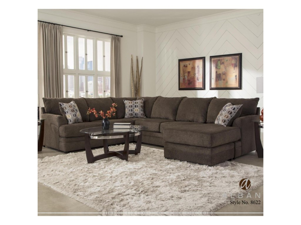 Albany 86222-Piece Sectional