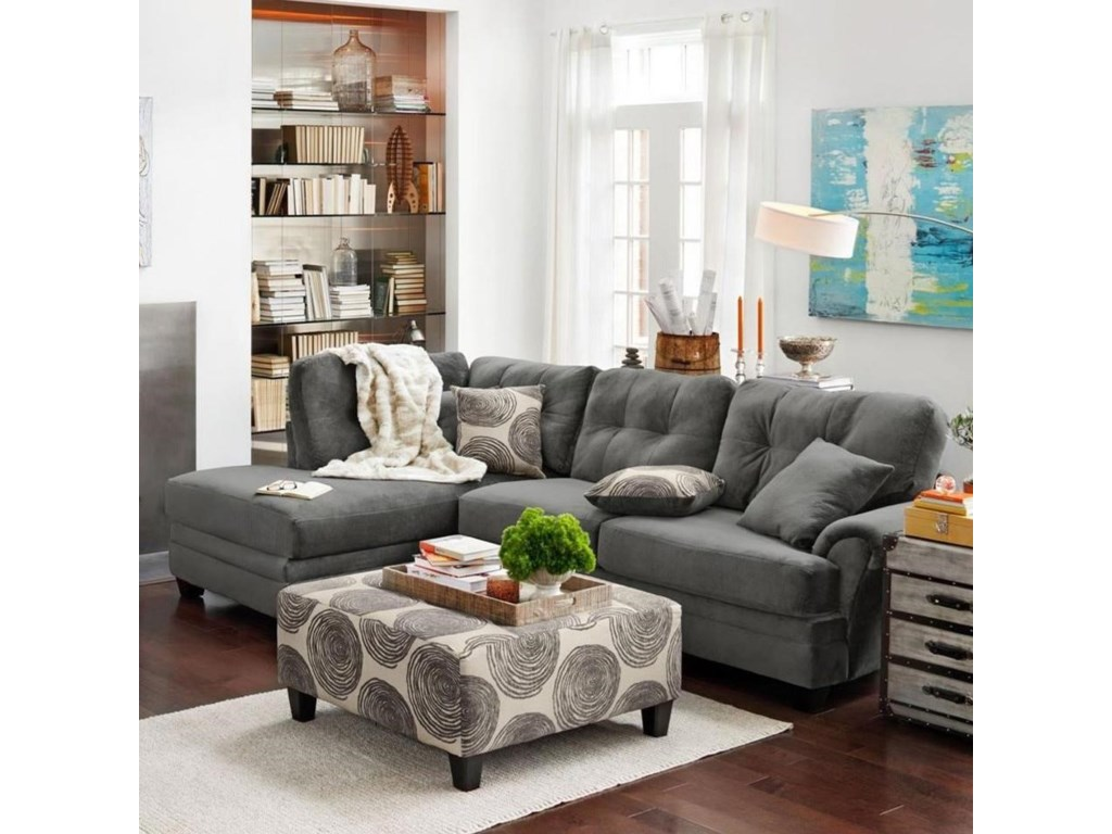8632 Transitional Sectional Sofa With Laf Chaise By Albany At Household Furniture