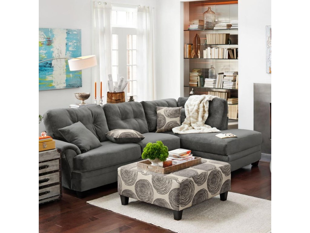 8632 Transitional Sectional Sofa With Chaise By Albany At Household Furniture