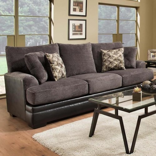 Albany 8640 Transitional Two-Tone Sofa