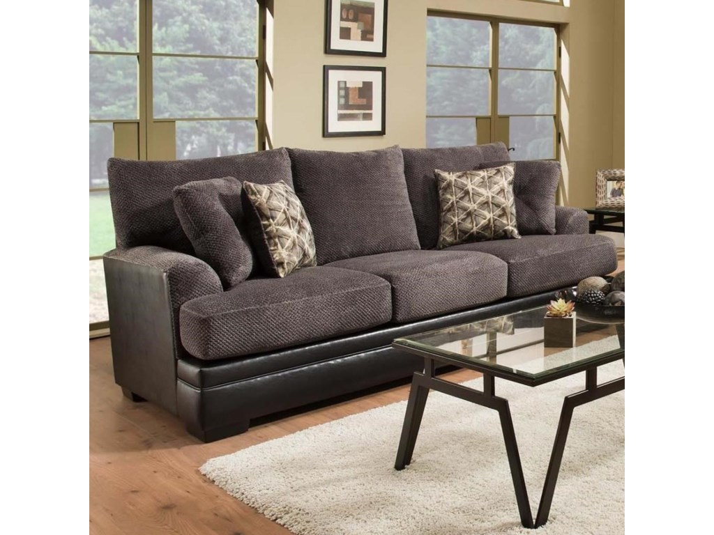 8640 Transitional Two Tone Sofa By Albany At Furniture And Appliancemart