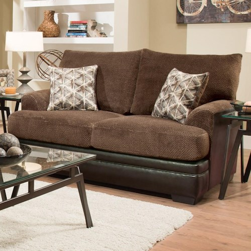 Albany 8640 Transitional Two-Tone Loveseat